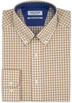 Nautica Classic Fit Wrinkle Resistant Safari Gingham Shirt