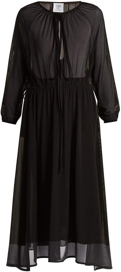 Vetements Wrap-skirt stretch-tulle midi dress