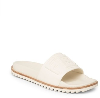Fendi Logo Embossed Slide Sandals