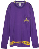 PINK University Of Albany Long Sleeve Campus Tee