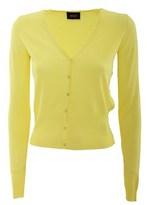 Liu Jo Women's Yellow Viscose Cardigan.
