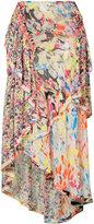 Jason Wu printed asymmetric skirt - women - Silk - 2