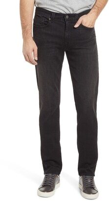 Fidelity Jimmy Black Slim Straight Leg Jeans