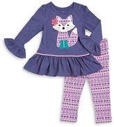 Kids Headquarters Girls 2-6x Fox Tunic and Leggings Set
