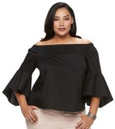 JLO by Jennifer Lopez Plus Size Solid Off-the-Shoulder Top