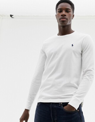 Polo Ralph Lauren long sleeve top with icon logo in white