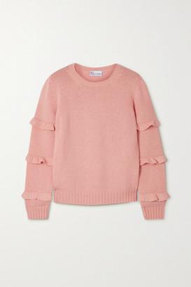 RED Valentino Ruffled Knitted Sweater