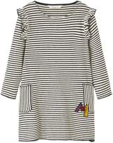 MANGO Girls Stripe Ruffle Jersey Dress