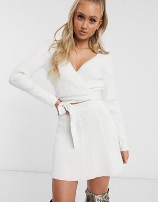 Parallel Lines flippy mini skirt co-ord