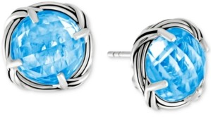 Peter Thomas Roth Blue Topaz Stud Earrings (10 ct. t.w.) in Sterling Silver