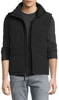 James Perse Funnel-Neck Down Vest, Black