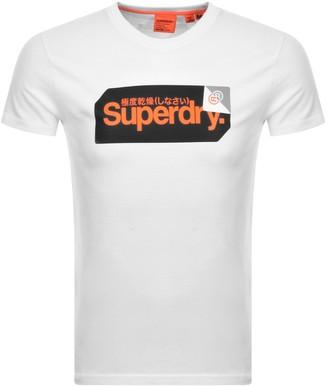 Superdry Core Logo Short Sleeved T Shirt White