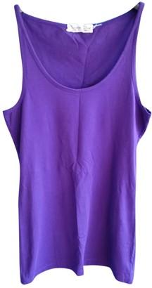 Christian Dior Purple Cotton Tops