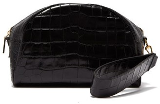 Hillier Bartley Crocodile-embossed Leather Clutch Bag - Womens - Black