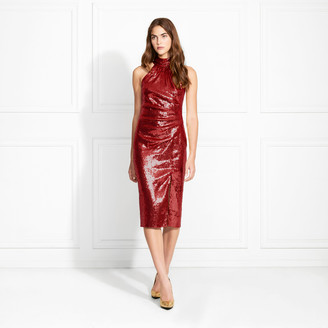 Rachel Zoe Elkin Fluid Sequin Midi Dress