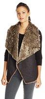 Velvet by Graham & Spencer Women's Faux Wolf Vest