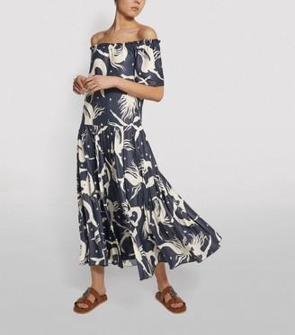 Valentino Mermaid Print Midi Dress