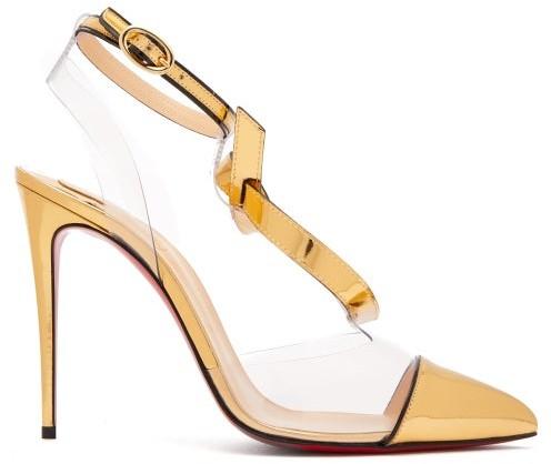 710ad6cc8556 Christian Louboutin Gold Pumps - ShopStyle