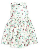 Oscar de la Renta Girl's Scattered Pansies Mikado Party Dress