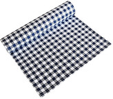 One Kings Lane Vintage Navy Blue & White Gingham Table Runner