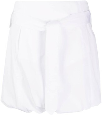Salvatore Ferragamo Puffball Hem Short Skirt