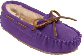 Minnetonka Children's Cassie Purple Moc Slippers