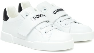 Dolce & Gabbana Kids Logo leather sneakers