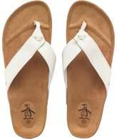 Original Penguin Mens Pine Sandals White