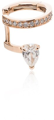 Repossi 18kt rose gold Serti sur Vide diamond ear cuff