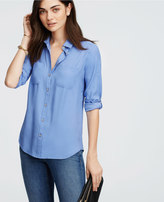 Ann Taylor Silky Camp Shirt