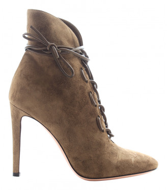 Gianvito Rossi Khaki Leather Ankle boots