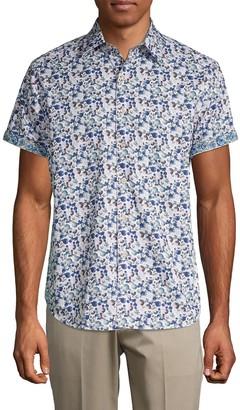 Robert Graham Gould Abstract Print Sport Shirt