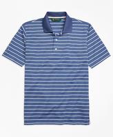 Brooks Brothers St. Andrews Links Stripe Golf Polo Shirt