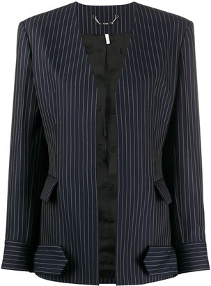 Chloé Pinstriped Open Blazer