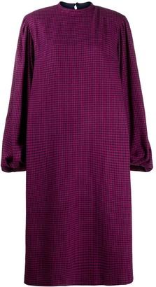 FEDERICA TOSI Houndstooth Puff-Sleeve Dress