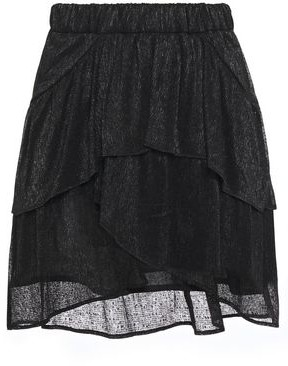 IRO Huge Tiered Metallic Georgette Mini Skirt