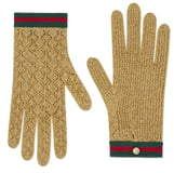 Gucci Metallic Knit Gloves