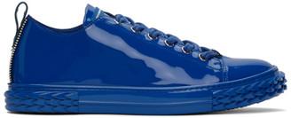 Giuseppe Zanotti Blue Patent Blabber Sneakers