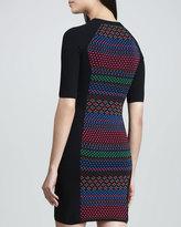 M Missoni Colorful Cube Paneled Dress