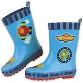 Stephen Joseph Airplane Rain Boot in Blue