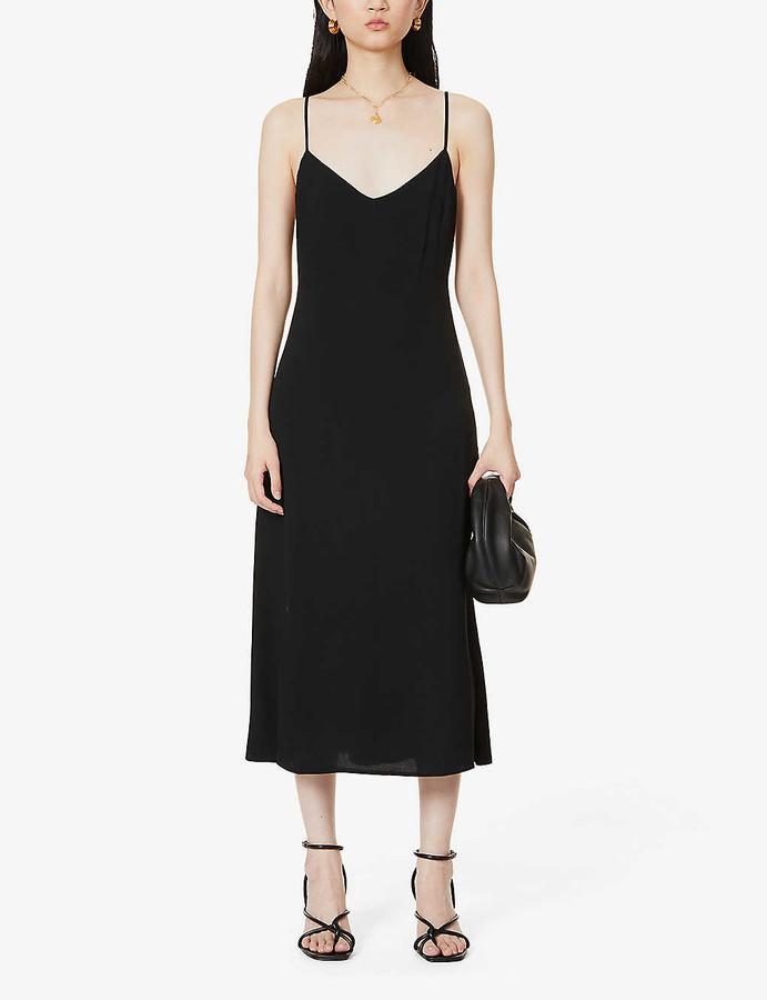 Reformation Chianti V-neck crepe midi dress