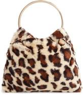 Sole Society Loray Faux Fur Top Handle Bag