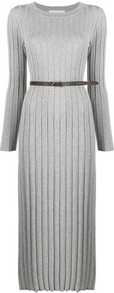Fabiana Filippi Ribbed Knit Midi Dress