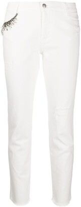 Ermanno Scervino Chain Embellished Cropped Trousers
