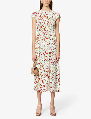 Reformation Gavin floral-print woven midi dress