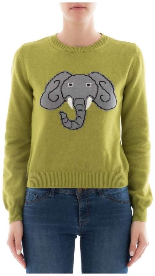 Alberta Ferretti Green Cotton Sweatshirt