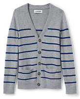 Classic Little Boys Stripe Cardigan-Gray Heather Stripe