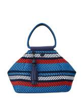 Tory Sport Woven Mesh Triangle Satchel Bag, Multi
