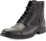 Rw Footwear Edgar Leather Double-Zip Boot, Black