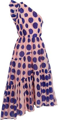 Ulla Johnson Ariane One-shoulder Polka-dot Cotton And Silk-blend Organza Midi Dress